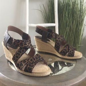NEW Lucky Brand | Keane Espadrille Leopard Sandals